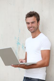 Free Student Working On Laptop Stock Image - 15711271