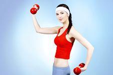 Free Training Woman Stock Image - 15711511