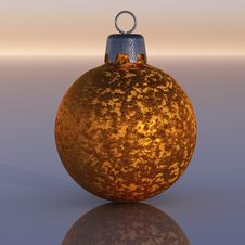 Free Gold Christmas Ornament Stock Image - 15712681