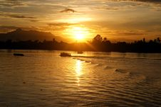 Free Sunset At Sarawak River Royalty Free Stock Photo - 15713535