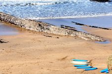 Free Surf Boards On The Cornish Coast Royalty Free Stock Photos - 15715118