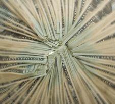 Free Circle Of Money: Twenty Dollar Bills, Radial Blur Stock Photos - 15715463