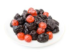 Free Dry Prunes And Cherries Stock Photography - 15716132