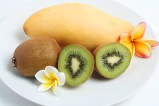 Free Fruit Kiwis And Mango Royalty Free Stock Photos - 15716228