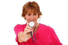 Free Nurse Holding Stethoscope Stock Image - 15716311