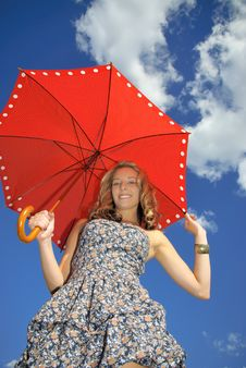 Free Girl With Umbrella Stock Photography - 15716972