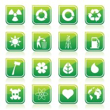 Free Environmental Icons Royalty Free Stock Photography - 15717097