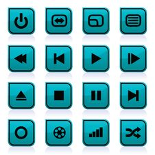 Free Media Icons Stock Photography - 15717122