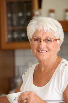 Free Senior Woman At Home Royalty Free Stock Images - 15717679