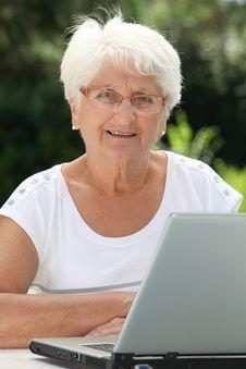 Free Elderly Woman In Garden Royalty Free Stock Photo - 15717715