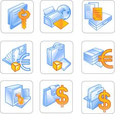 Free Business Icon. Royalty Free Stock Images - 15717719