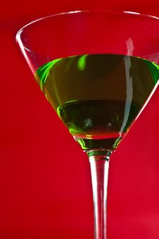 Free Green Drinks In Martini Glass Stock Images - 15719394