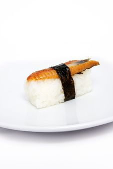 Free Sushi On The Plate Royalty Free Stock Photo - 15719405