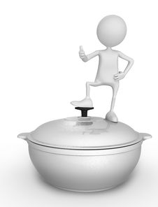 Free Saucepan And Person Stock Photo - 15719750