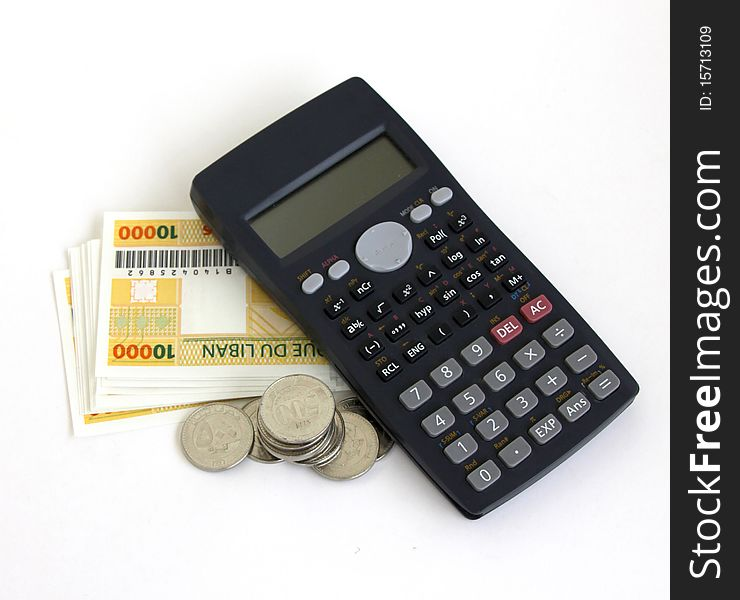 Calculator And Money Free Stock