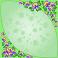 Free Green Floral Frame Stock Photography - 15720492