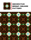 Free Decorative Brown Square Pattern Stock Images - 15723784