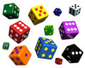 Free Playing Dices On White Background Royalty Free Stock Photos - 15729198