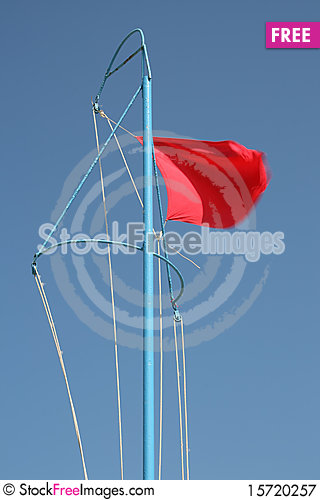 Free Red Flag Royalty Free Stock Photography - 15720257