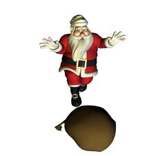 Free Santa Claus Found His Bag Royalty Free Stock Photos - 15720128