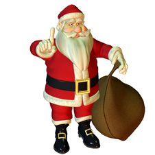 Free Attention Santa Claus Royalty Free Stock Image - 15720146