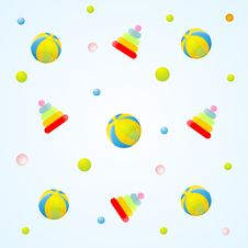 Toys Pattern Royalty Free Stock Photography