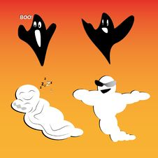 Free Set Of Ghosts For Design Stock Image - 15720291