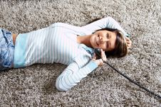 Free Woman With A Phone Royalty Free Stock Photo - 15722085