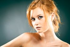 Free Portrait Of Red-haired Woman Stock Image - 15722411