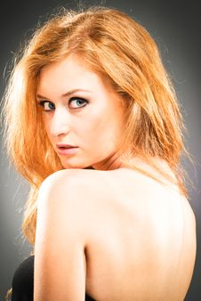 Free Portrait Of Red-haired Woman Stock Images - 15722414