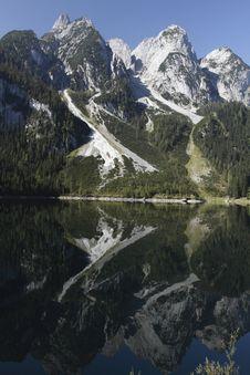 Free Alpine Peaks Mirroring In Gosau Lake Stock Photos - 15722433