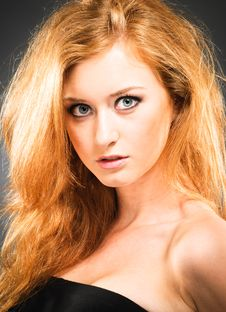Free Portrait Of Red-haired Woman Royalty Free Stock Photo - 15722435