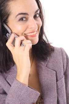 Free Business Brunette On The Phone Stock Photos - 15722543