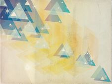 Abstract Blue Yellow Triangles Grunge Background Stock Photos