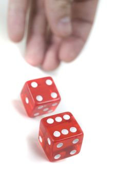 Free Throwing Two Dices Stock Photos - 15723383