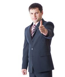 Free Businessman With Thumbs-up Stock Images - 15724614