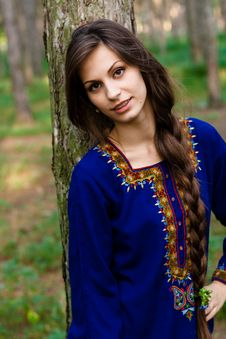 Free Girl At The Forest Royalty Free Stock Photography - 15725437