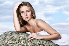 Free Girl Over Sky Stock Photos - 15725973