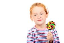 Free Girl With Lollipop Stock Images - 15725994