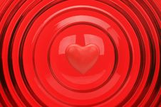 Free Heart On A Red Background Royalty Free Stock Photos - 15726458