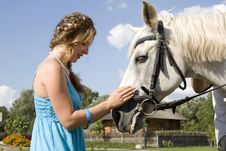 Free Conversation With A Horse Royalty Free Stock Photography - 15727197