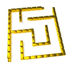 Free Gold Maze Royalty Free Stock Photography - 15727777