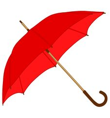 Free Red Classic Umbrella Stock Photos - 15727823