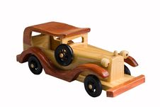 Free Wooden Toy Car Stock Image - 15728151