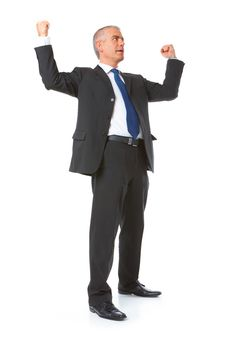 Successful Businessman With Hands Up Royalty Free Stock Photo