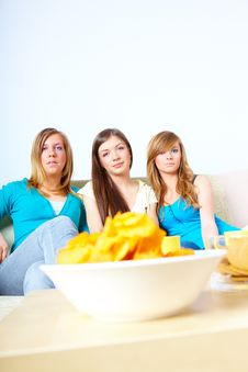 Free Beautiful Girls And Chips Stock Images - 15728384