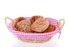 Free Currant Bread And Cereal Rolls Royalty Free Stock Photo - 15728725