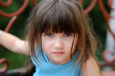 Free Nice Toddler Girl With Beauty Blue Eyes Stock Photo - 15729270