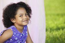 Free Little Girl Posing Outside Stock Images - 15729494