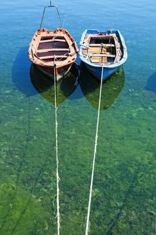 Free Two Old Boats Stock Photography - 15729512